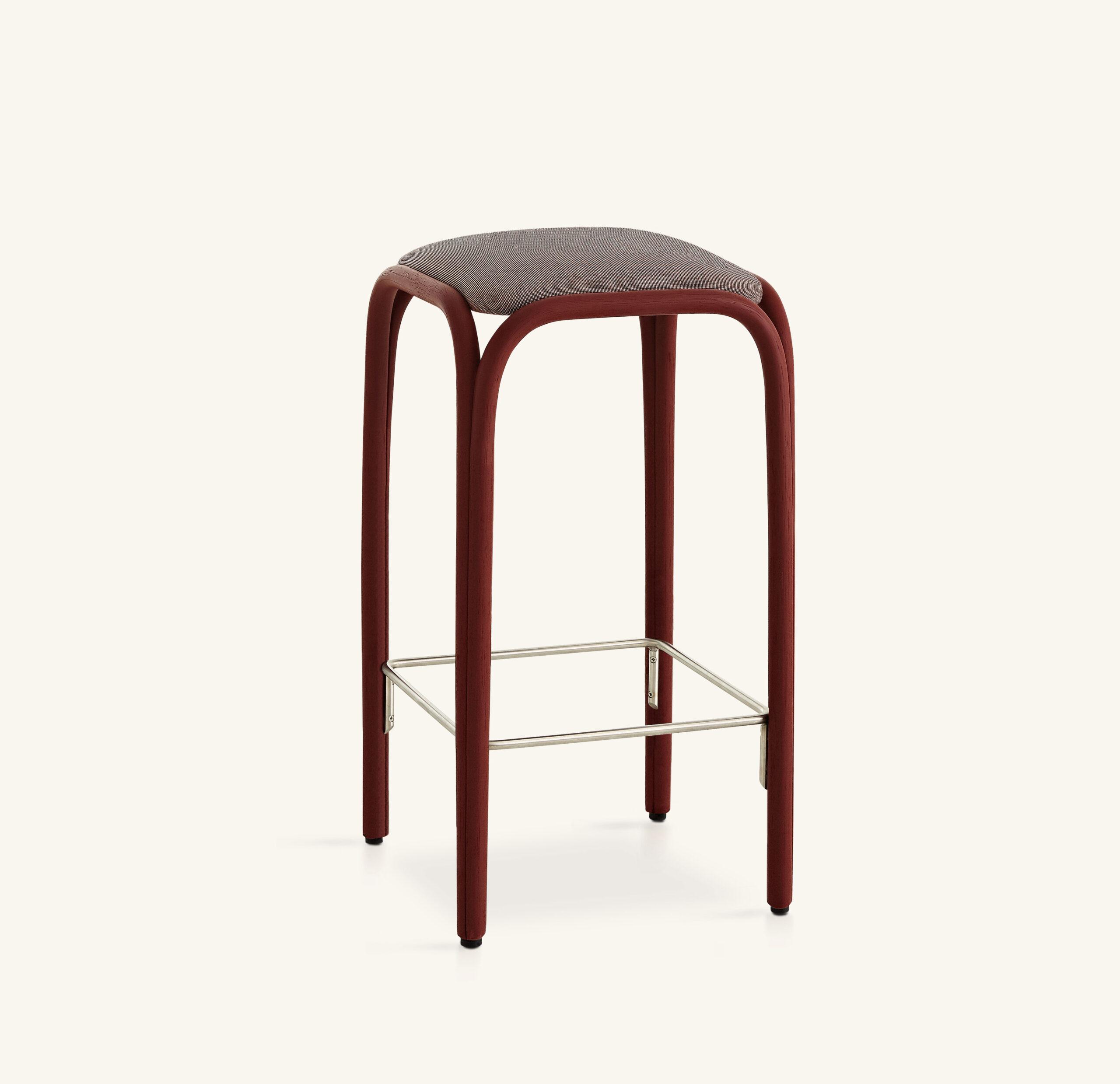 Fontal upholstered high barstool