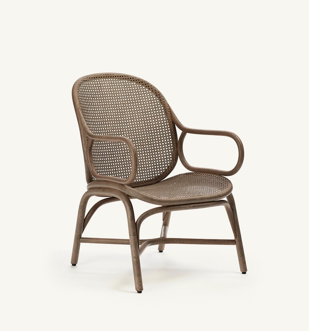 Frames low backrest armchair