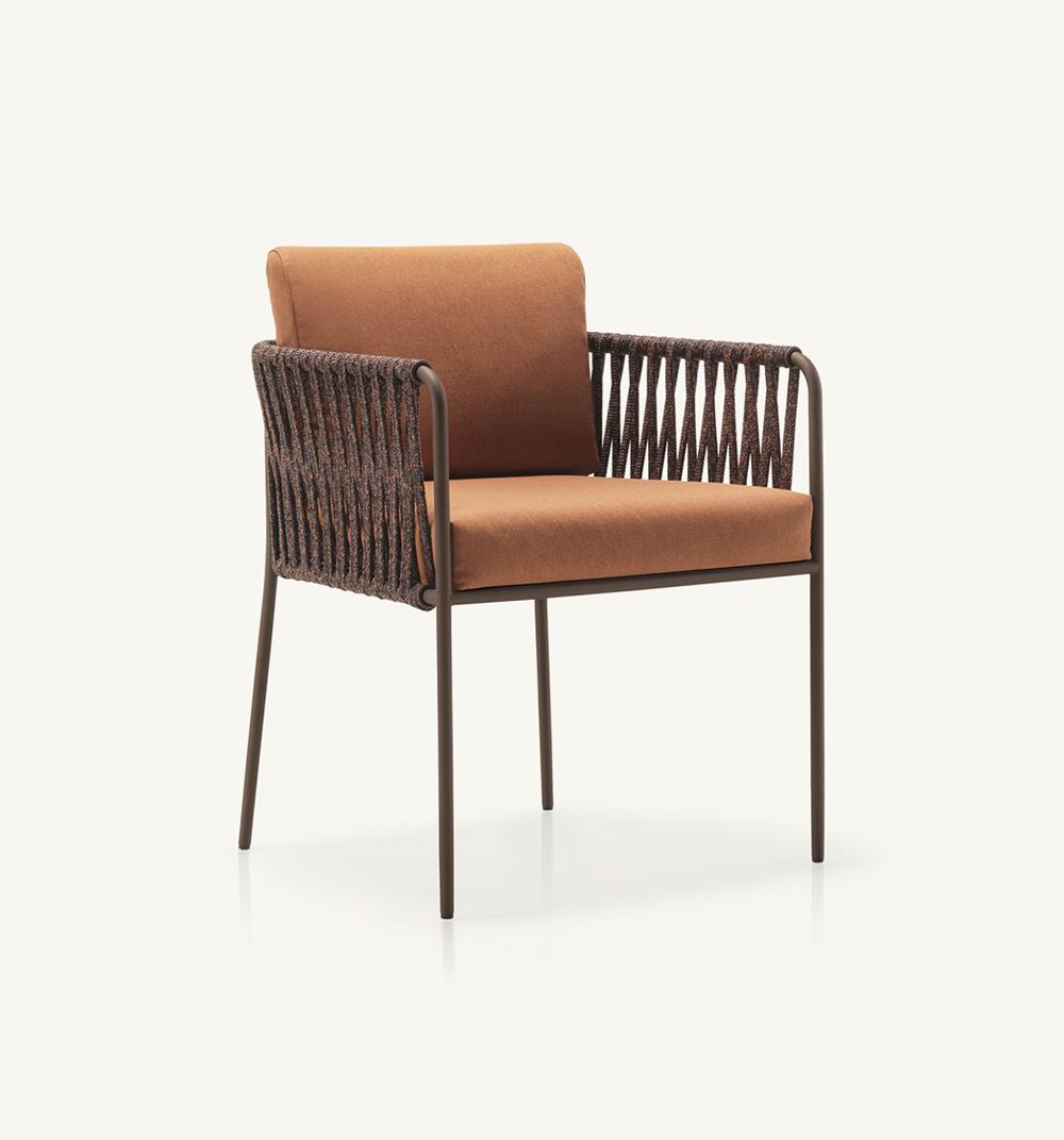 Nido hand-woven dining armchair