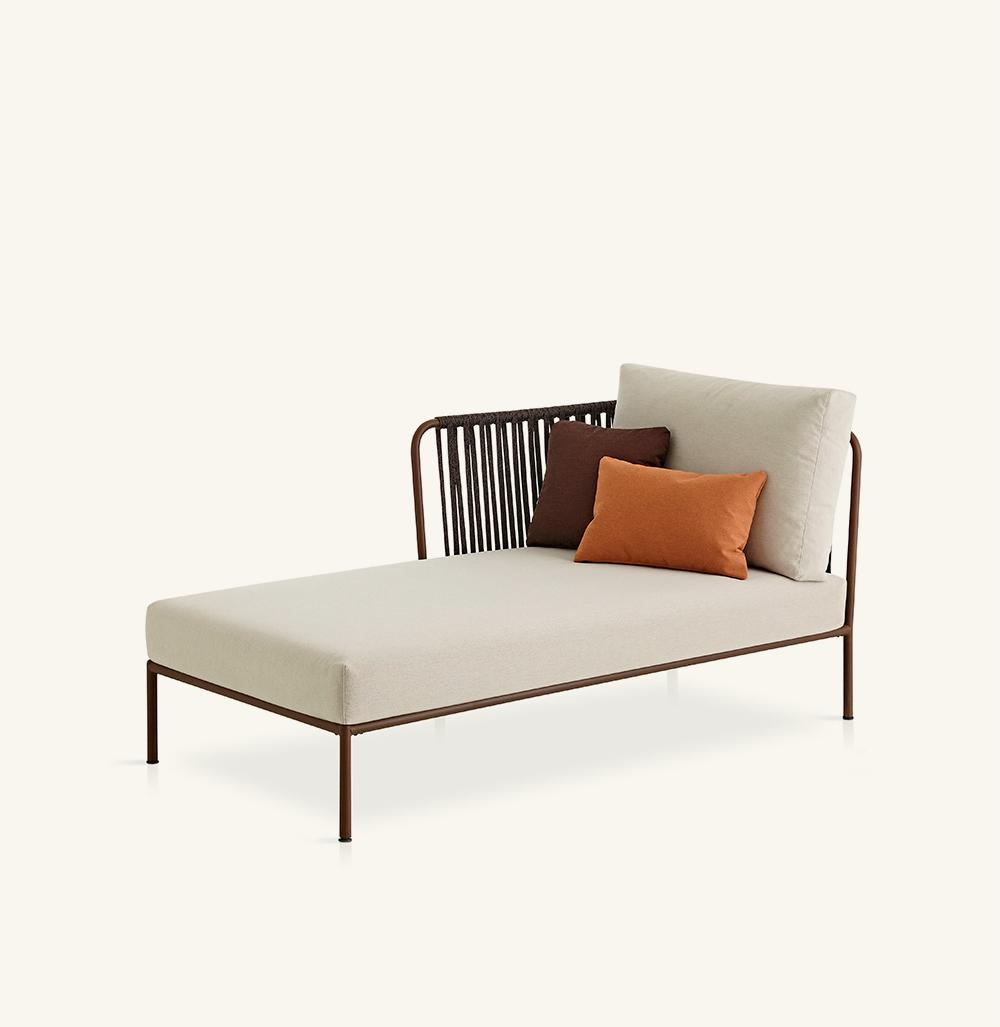 Nido hand-woven left chaise longue module