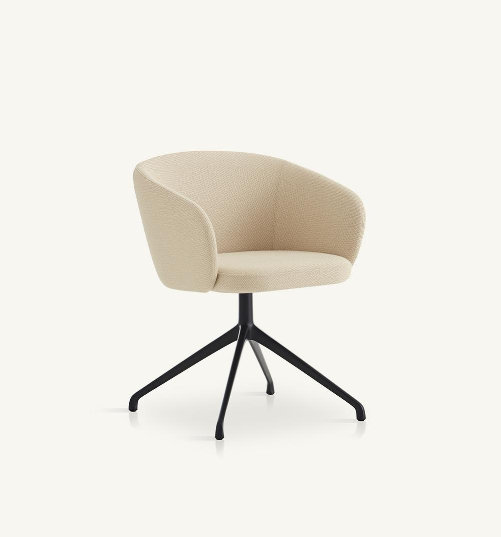 Huma upholstered swivel armchair